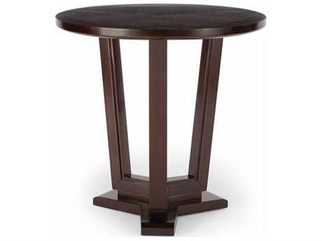 Brownstone Furniture Bancroft 27'' Wide Round Dark Cherry End Table