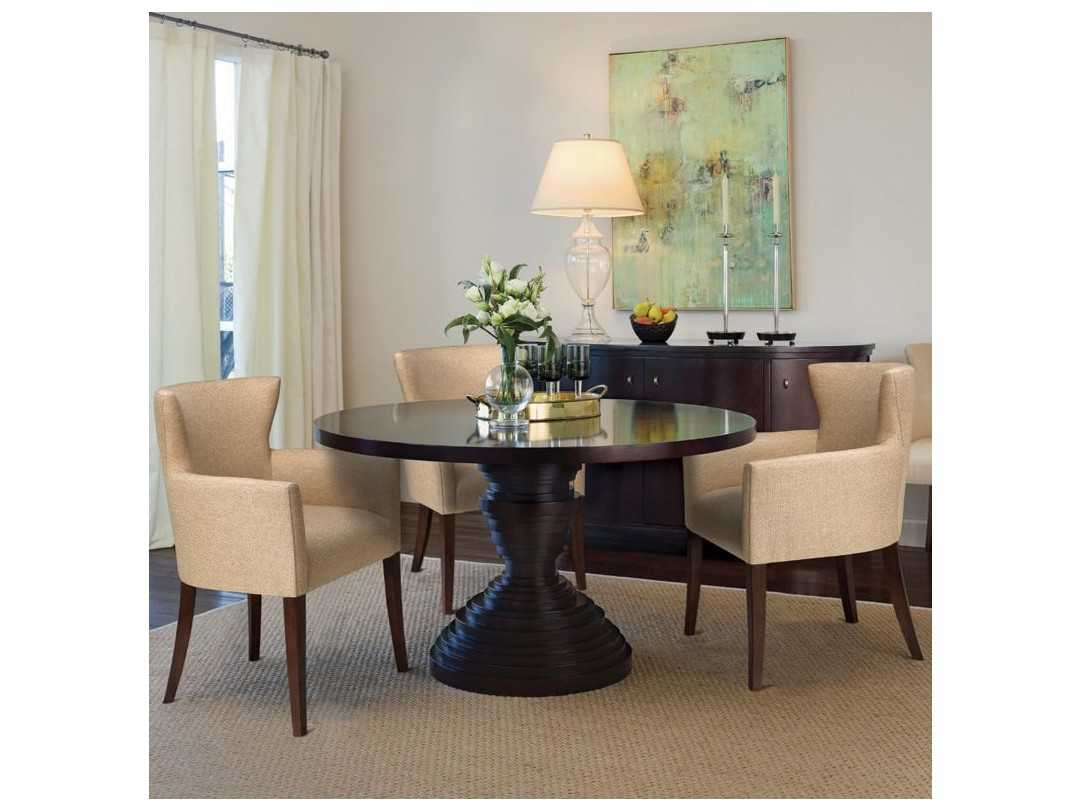 Brownstone Furniture Ibiza 54 Round Sienna Brown Dining Table Ibg301t Ibg302b