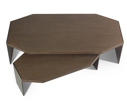 Brownstone Furniture Jasper Nutmeg 58''L x 32'' W Hexagon Nesting Tables