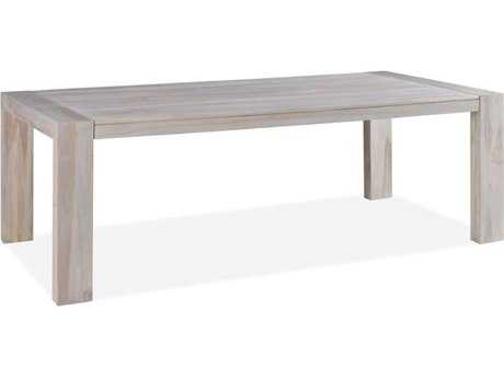Brownstone Furniture Messina 90''L x 43''W Rectangular Graywash Dining Table