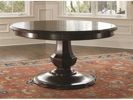 Brownstone Furniture Sienna 72'' Round Chestnut Extension Dining Table