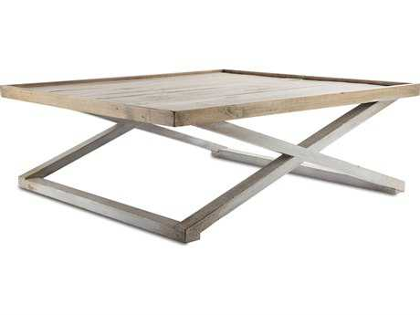 Brownstone Furniture Sutton 47'' Square Reclaimed Pine Coffee Table