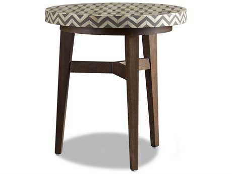 Brownstone Furniture Tangier 24'' Round Natural & Charcoal Gray Bone End Table