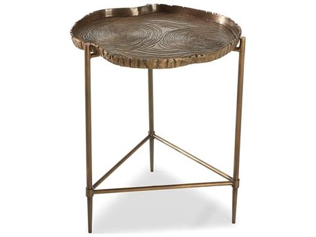 Brownstone Furniture Toulouse Tree Antique Brass 18'' Wide Round End Table