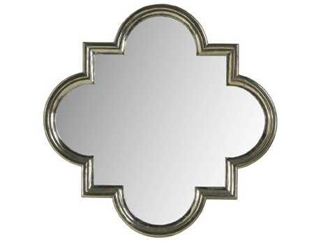 Brownstone Furniture Treviso 35'' Wide German Silver Quatre Wall Mirror