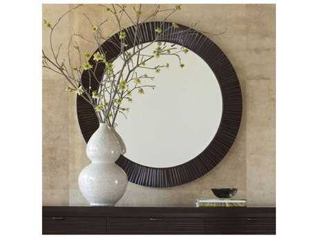 Brownstone Furniture Townsend 40'' Round Warm Sedona Brown Wall Mirror