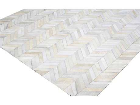 Bashian Rugs Santa Fe Rectangular White Area Rug