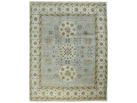 Bashian Rugs Vintage Rectangular Light Blue Area Rug