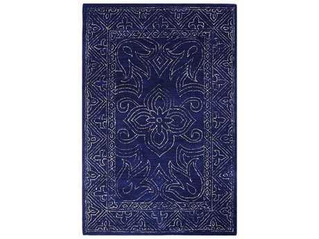 Bashian Rugs Venezia Rectangular Navy Area Rug