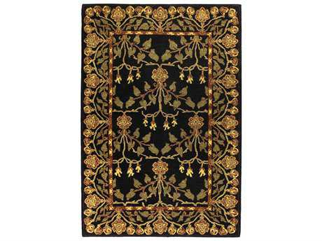 Bashian Rugs Wilshire Rectangular Black Area Rug