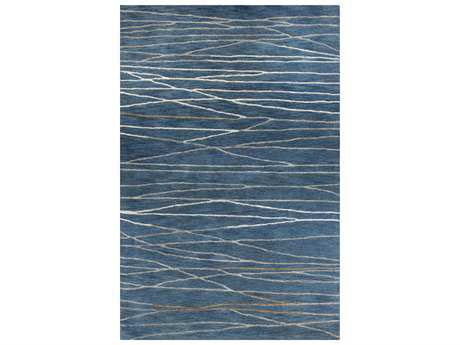 Bashian Rugs Greenwich Rectangular Azure Area Rug