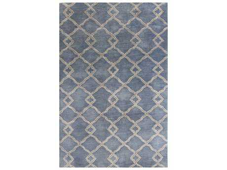 Bashian Rugs Greenwich Rectangular Denim Area Rug