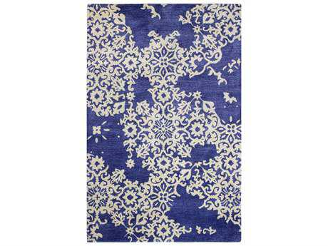 Bashian Rugs Greenwich Rectangular Navy Area Rug