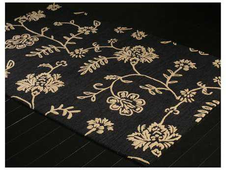 Bashian Rugs Verona Rectangular Black Area Rug