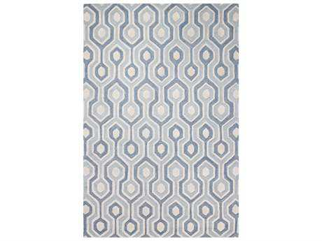 Bashian Rugs Verona Rectangular Light Blue Area Rug