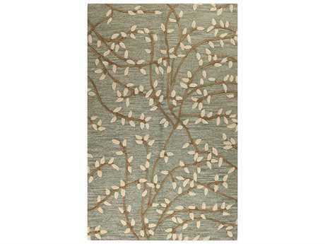 Bashian Rugs Verona Rectangular Light Green Area Rug