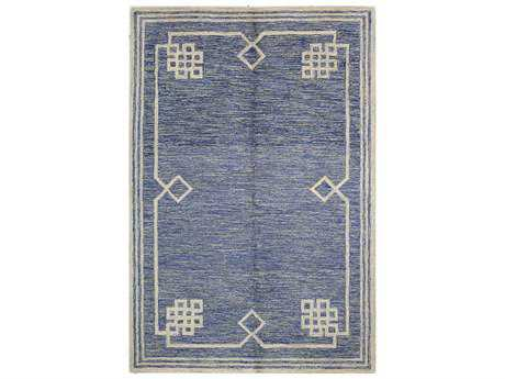 Bashian Rugs Valencia Rectangular Denim Area Rug