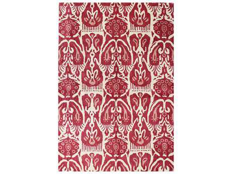 Bashian Rugs Chelsea Rectangular Ivory & Red Area Rug