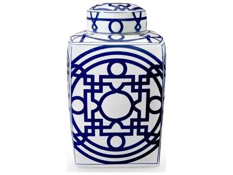 Bungalow 5 Blue / White Jasper Square Jar
