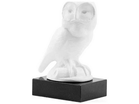 Bungalow 5 White / Black Marble Owl Statue Sculpture
