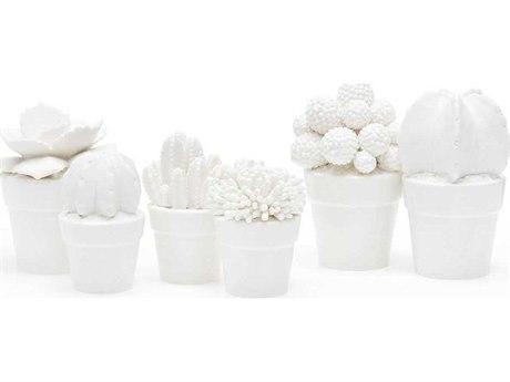Bungalow 5 White Santa Fe Porcelain Figures Sculpture (Set of 6)