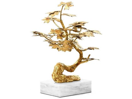 Bungalow 5 Gold Leaf / White Marble Tivoli Statue Sculpture