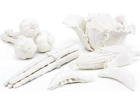 Bungalow 5 White Vegetable Garden Set Sculpture