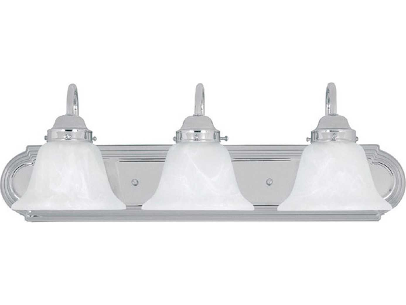 Vanity Lights Cyber Monday : Capital Lighting Chrome Three-Light Vanity Light C21033CH118