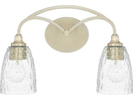 Capital Lighting Seaton Soft Gold with Clear Organic Glass Two-Light Vanity Light