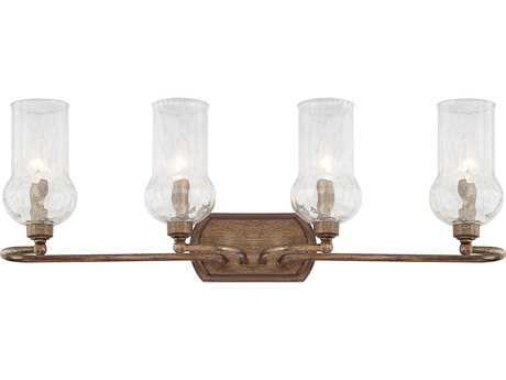 Capital Lighting Rowan Rustic with Water Glass Four-Light Vanity Light