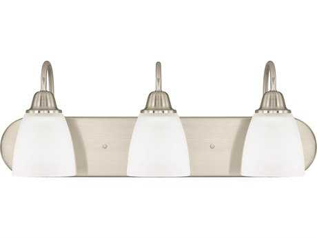 Capital Lighting HomePlace Lighting Trenton Brushed Nickel with Acid Washed Glass Three-Light Vanity Light