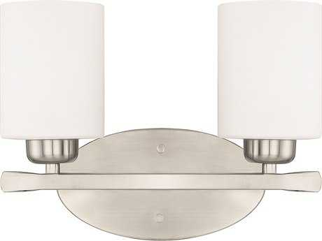 Capital Lighting HomePlace Lighting Dixon Brushed Nickel with Soft White Glass Two-Light Vanity Light