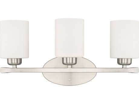 Capital Lighting HomePlace Lighting Dixon Brushed Nickel with Soft White Glass Three-Light Vanity Light