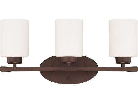 Capital Lighting HomePlace Lighting Dixon Bronze with Soft White Glass Three-Light Vanity Light