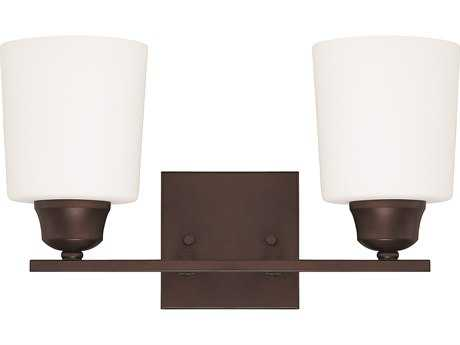Capital Lighting HomePlace Lighting Hayden Bronze with Soft White Glass Two-Light Vanity Light