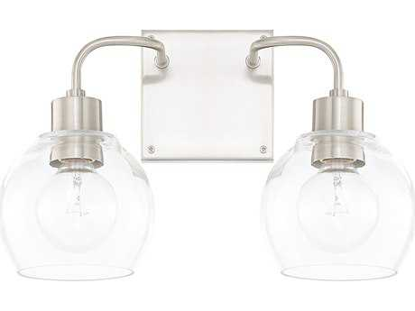 Capital Lighting HomePlace Brushed Nickel Two-Light Vanity Light