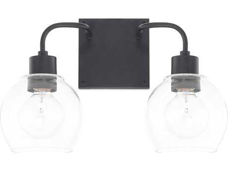Capital Lighting HomePlace Matte Black Two-Light Vanity Light
