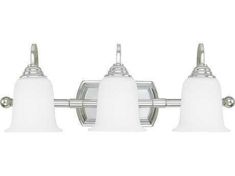Capital Lighting Chrome Three-Light Vanity Light