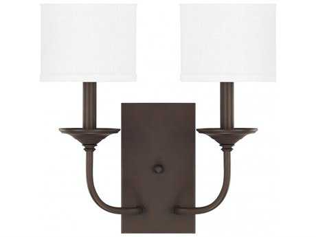 Capital Lighting Loft Burnished Bronze Two-Light Wall Sconce