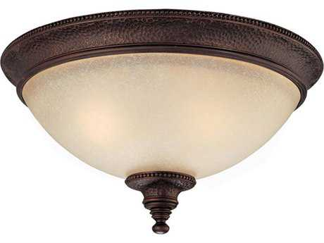Capital Lighting Hill House Burnished Bronze Two-Light 13'' Wide Flush Mount Light