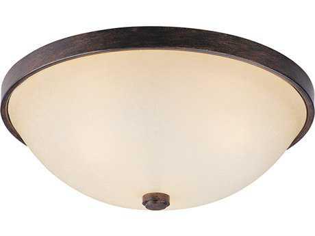 Capital Lighting Rustic Three-Light 15'' Wide Flush Mount Light