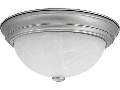 Capital Lighting Matte Nickel Two-Light 11'' Wide Flush Mount Light