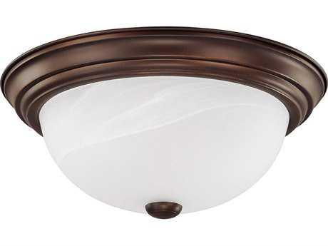 Capital Lighting Burnished Bronze Three-Light 15'' Wide Flush Mount Light