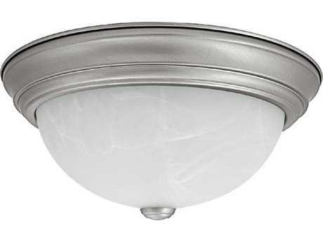 Capital Lighting Matte Nickel Three-Light 15'' Wide Flush Mount Light