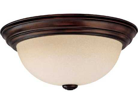 Capital Lighting Burnished Bronze Two-Light 13'' Wide Flush Mount Light