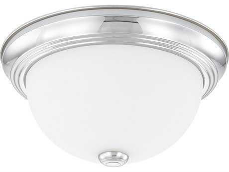 Capital Lighting Chrome Two-Light 11'' Wide Flush Mount Light