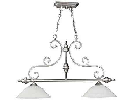 Capital Lighting Chandler Matte Nickel Two-Light 37'' Wide Island Light