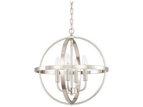 Capital Lighting HomePlace Lighting Brushed Nickel Four-Light 16.5'' Wide Mini Chandelier
