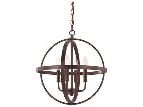 Capital Lighting HomePlace Lighting Bronze Four-Light 16.5'' Wide Mini Chandelier