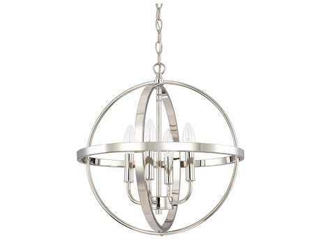 Capital Lighting HomePlace Lighting Polished Nickel Four-Light 16.5'' Wide Mini Chandelier